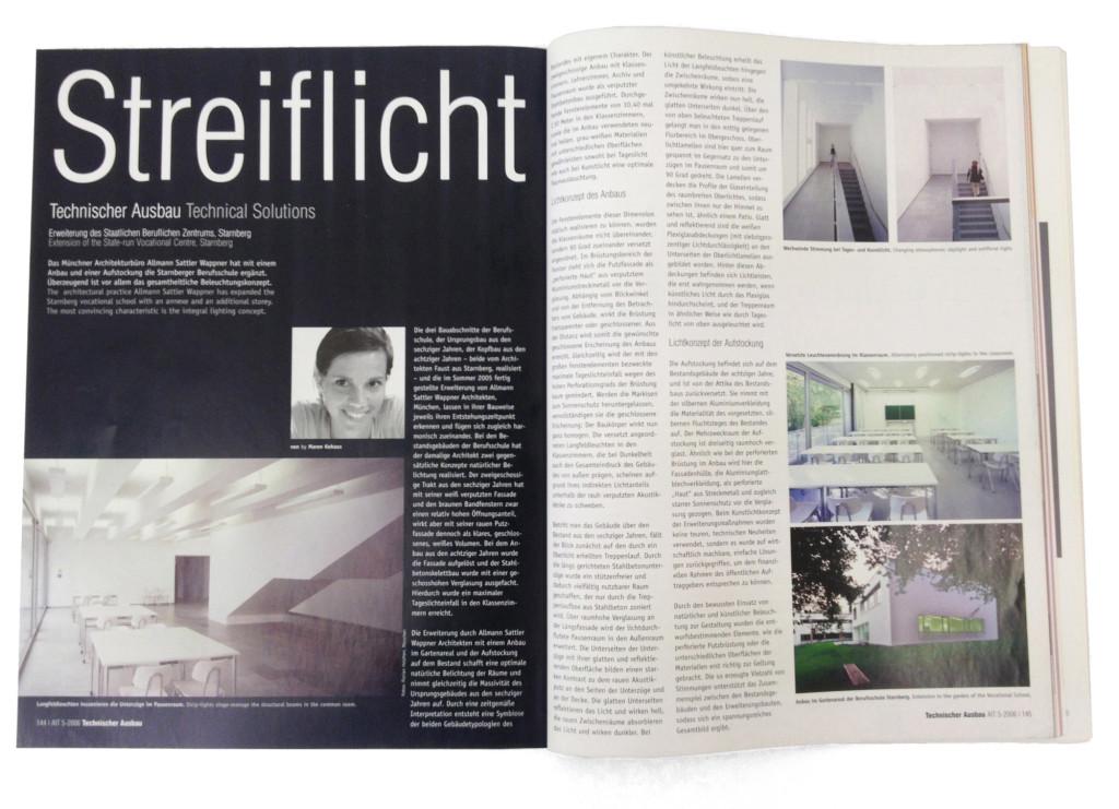 """""""Erweiterung des Staatlichen Beruflichen Zentrums"""", Streiflicht Technischer Ausbau, AIT 05/2006"""