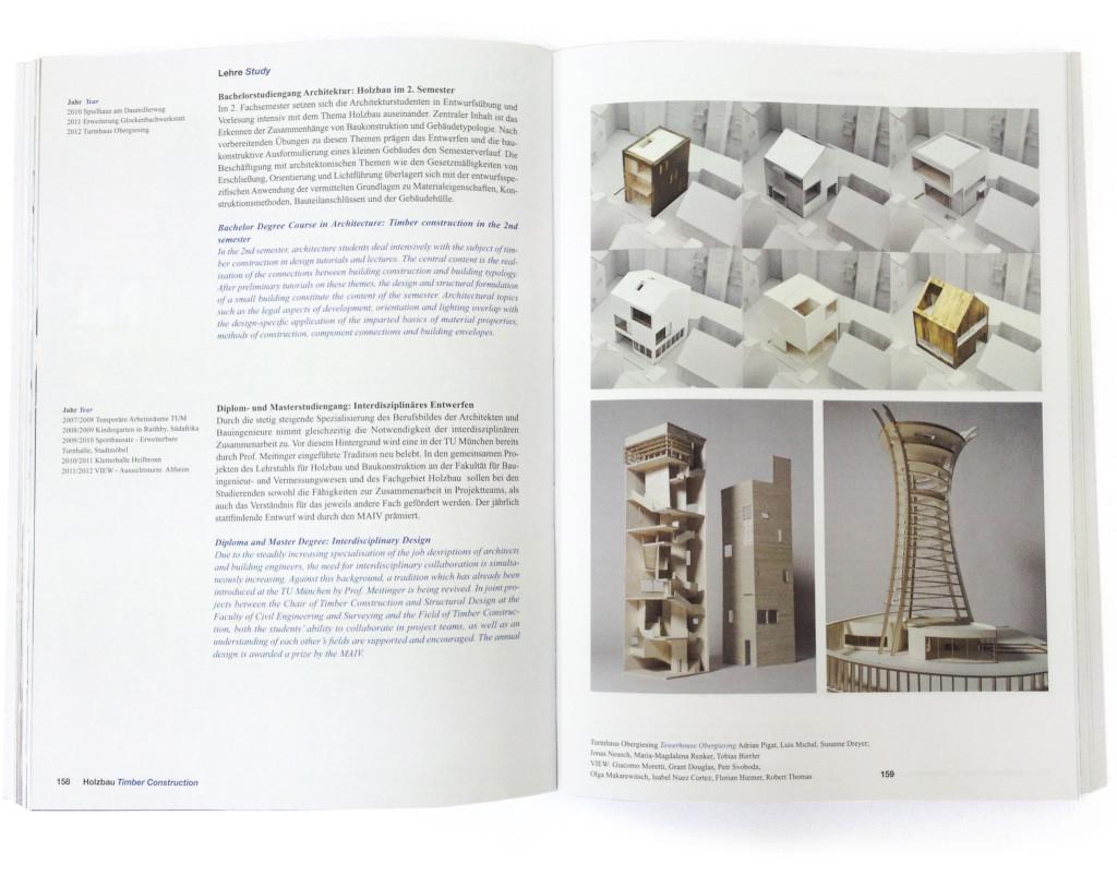 Studentenentwürfe im Jahrbuch der TUM 2012
