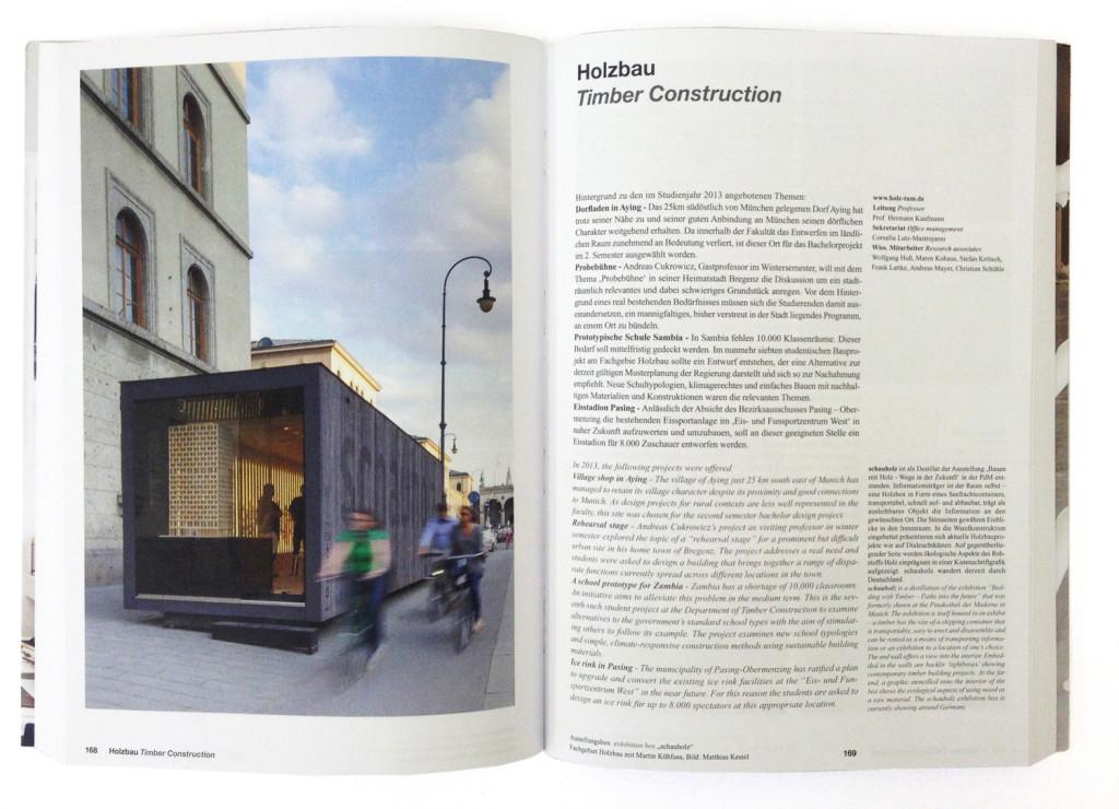 """Projekt """"schauholz"""" im Jahrbuch der TU München 2013"""