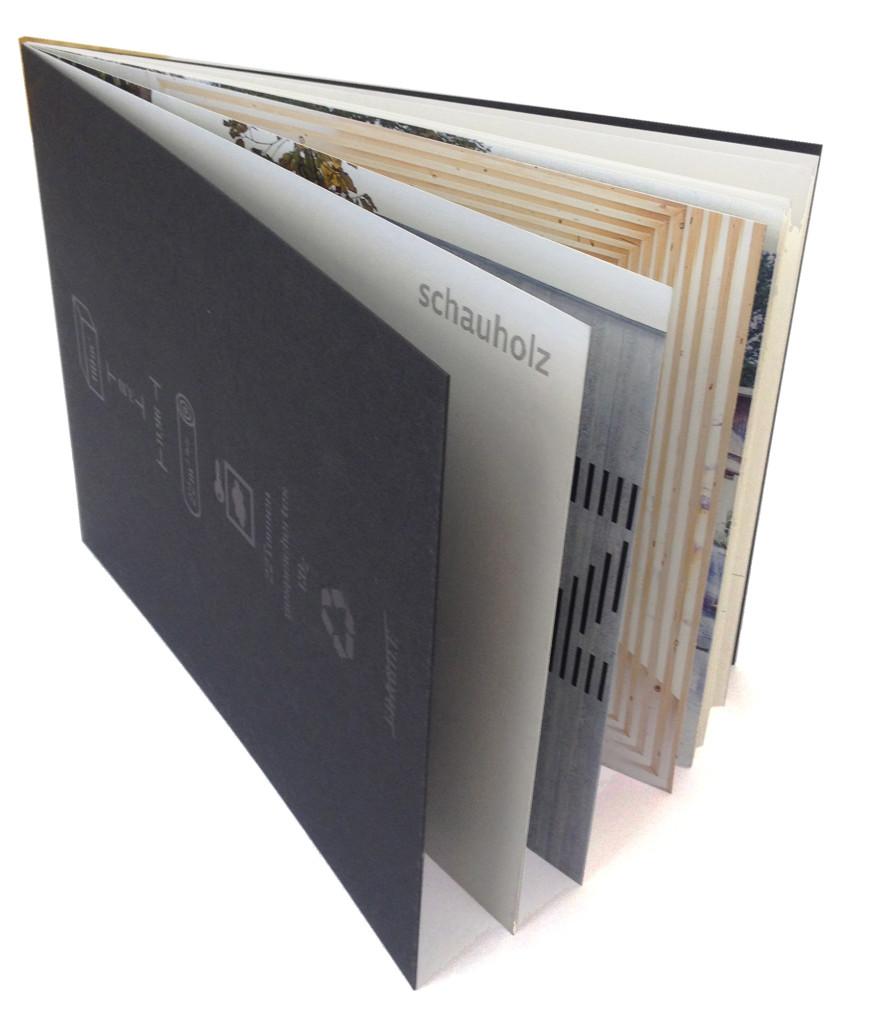 "Broschüre ""schauholz"", Mobile Ausstellungsbox"