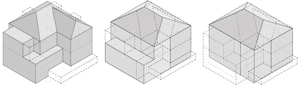 Unterschiedliche Varianten zur Optimierung der Bausubstanz unter Berücksichtigung des Flächenzuwachses und der prognostizierten Kosten